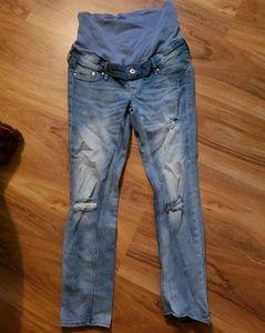 H&M Mama Skinny High Rib Ankle Maternity Jeans sz6